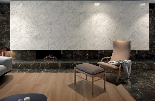 Wood-and-marble-effect-tiles-living-room